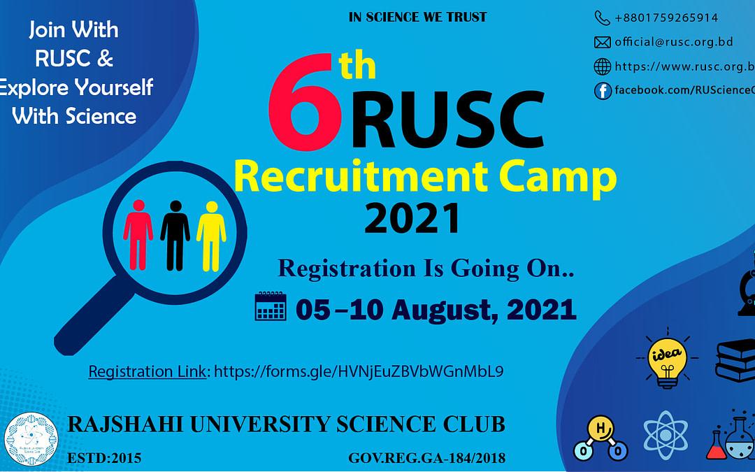 6th RUSC Recruitment Camp 2021